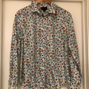 J.Crew Liberty perfect fit button up